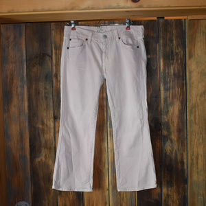 7 For All Mankind Blush Pink Capri Jeans Size 29